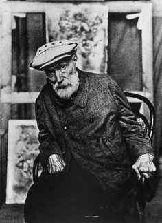 Pierre-Auguste Renoir towards the end of his life, when his hands were completely ruined by arthritis (which didn't stop him from painting)