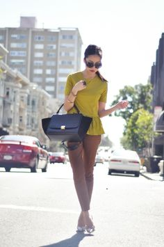 9to5Chic: Mustard & Khaki