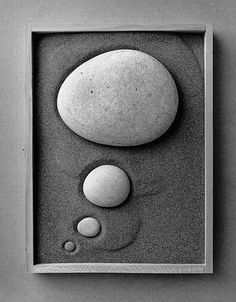 """Jose Maria Rodriguez Madoz (born better known as Chema Madoz, is a Span. 25 Photos by Chema Madoz Pebble Stone, Pebble Art, Stone Art, Art Pierre, Beton Design, Ryoanji, Sticks And Stones, Nature Crafts, Stone Painting"