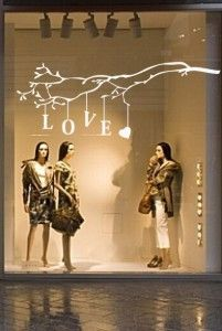 Love this window display. #retail #merchandising #window_display #branch #love