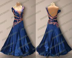 BALLROOM STADARD SMOOTH DANCE COMPETITION DRESS SIZE:S US 4-6  WB3139