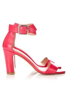 #wallis HOT ! Pink Leather Sandals - perfect with a summer #dress