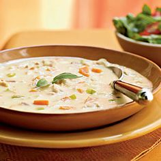 Turkey and potato soup with canadian bacon