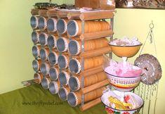 pringles wine rack craft room organizer repurpose, craft rooms, crafts, organizing, repurposing upcycling, storage ideas