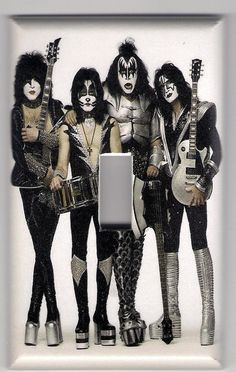 Kiss Band light switch plate cover Free by mycustomswitchplates, $5.00