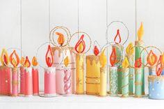 Christmas Candles, Christmas Paper, Diy Christmas Ornaments, Christmas Wrapping, Vintage Christmas, Christmas Ideas, Christmas Decorations, Christmas Tree, Large Pillar Candles