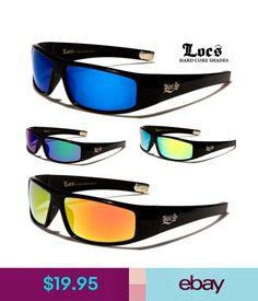 248683519ac Men s Sunglasses Locs Wrap Around Sunglasses - Black Frame   Mirror Lens -  Available In 4 Colours