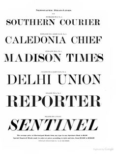 The Cincinnati Type Foundry Co's specimen and p...
