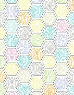 Mel Stampz: Hexagon digital paper template & hex. paper freebies