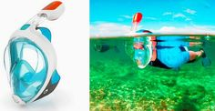How awesome is this?!?! I want one!. why didn't they think of this before? EasyBreath Snorkelling Mask