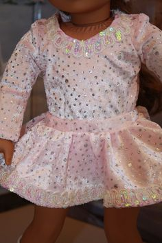 7b36387907f Pink Skating Costume fits American Girl or by CjsLittleBoutique, $29.50  Bitty Baby Clothes, Ag