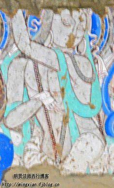 克孜爾千佛洞38窟被西方探險隊喻為珍貴的東方維納斯的脅侍菩薩