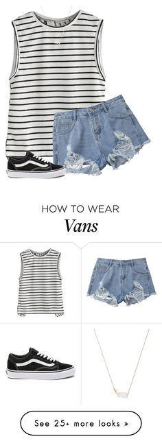 """""""Untitled #438"""" by kiahgates on Polyvore featuring Vans and Kendra Scott"""