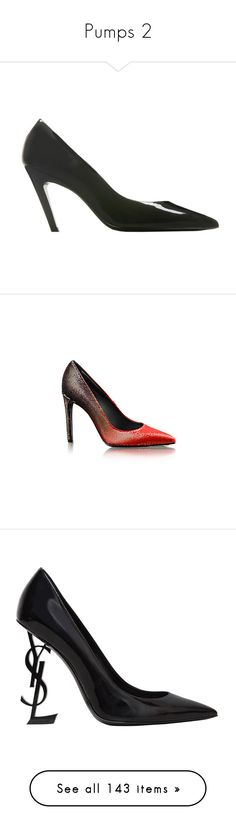 """""""Pumps 2"""" by jckyleeah ❤ liked on Polyvore featuring Pumps, jckyleeah, shoes, pumps, black, women shoes slash shoes, black patent leather pumps, black patent pumps, black pumps and black pointy toe pumps"""