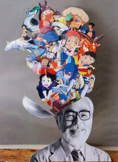 Hayao Miyazaki, the creator of many of my favourite animations. How awesome it would be to peek inside his imagination !