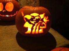 Yoda Halloween pumpkin