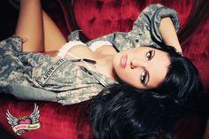 Boudoir & Pinup for Military Fiance // Army Boudoir Photography Pin Up Photography, Boudoir Photography, Boudoir Pics, Military Girl, Military Salute, Before Wedding, Bridal Boudoir, Military Photos, Up Girl