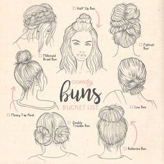 Types of buns buns ilustration Types Thaddeus TechUve Free Photos is part of pencil-drawings - Types of buns buns ilustration Types Types of buns buns ilustration Types Medium Hair Styles, Curly Hair Styles, Types Of Buns, Types Of Hair Bun, Art Sketches, Art Drawings, Braided Hairstyles, Cool Hairstyles, Drawing Hairstyles