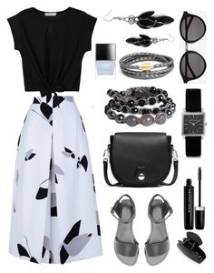 """""""Pleated culottes"""" by cly88 ❤ liked on Polyvore featuring TIBI, Charlotte Russe, rag & bone, Soul Journey Jewelry, Isabel Marant, Liza Schwartz, Butter London, Marc Jacobs, Yves Saint Laurent and Alexa Starr"""
