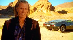 """David Carradine as Bill, in the """"Kill Bill"""" movies, he was a big car guy and requested Cadillac's Cien Concept Car for his eponymous character in Kill Bill. Quentin Tarantino isn't a car guy and he planned to use a silver Porsche for Bill's ride. Luckily for all of us, Carradine won"""