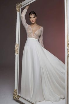 We have in our hands the brand-new bridal collection of our beloved Mairi Mparola and we are thrilled. Every time the talented designer manages to impress us Ethereal Wedding Dress, Wedding Gowns, On Your Wedding Day, Bridal Collection, Bridal Style, One Shoulder Wedding Dress, Formal Dresses, Brides, Fashion