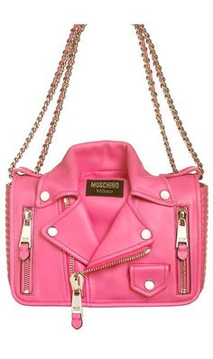 Moschino Capsule Biker Jacket Leather Shoulder Bag