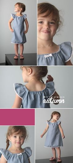 sewing dress how to make a cute sundress with flutter sleeves sewing tutorial - Learn how to make a simple sundress with flutter sleeves with this easy sewing tutorial. Step by step photos. How to sew sleeves. Sewing Hacks, Sewing Tutorials, Sewing Patterns Free, Dress Patterns, Sewing Kids Clothes, Sewing For Kids, Baby Sewing, Little Girl Dresses, Girls Dresses