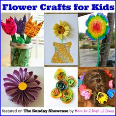 Easy flower crafts for kids. Great for fun or as homemade gifts!
