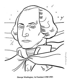 A list of Presidents in order,  US President facts, biography, pictures, names and coloring pages for each US President. Portraits of the presidents too!