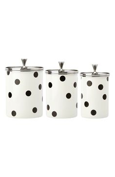 Kate Spade canisters. Also has matching tea kettle. Nordstrom exclusive