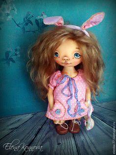 Купить Зайка. Текстильная кукла - розовый, лавандовый, девочка, зайка девочка, кукла ручной работы