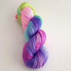 Hand Dyed Yarn  Elia   Merino Silk Fingering by YarnLoftbyJulia
