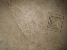 Raised plaster stencil