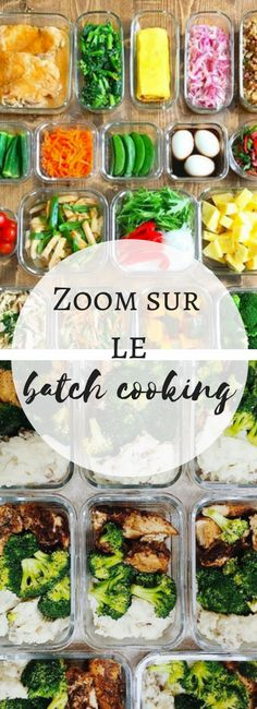 Batch cooking: the method of organization to save time in cooking Raw Food Recipes, Lunch Recipes, Cooking Recipes, Healthy Recipes, Batch Cooking Freezer, Vegetarian Menu, How To Cook Lobster, Fast Easy Meals, Healthy Baking