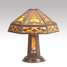 Image detail for -... & Auction Center Image 1 LIMBERT Hammered copper faceted table lamp