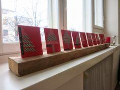 SATEENKAARIA JA SERPENTIINIÄ: Joulukorttiteline