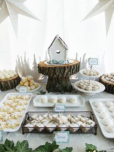 rustic Christmas party table