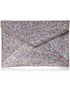 Rebecca Minkoff Multi Glitter Leo Envelope Clutch, Pink/Multi, One Size ❤ Rebecca Minkoff Rebecca Minkoff Handbags, Gifts For Women, Glitter, Pink, Hot Pink, Pink Hair, Sequins, Glow