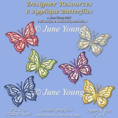 Applique Butterflies : The Designer Twins ...where creativity encounters quality and value