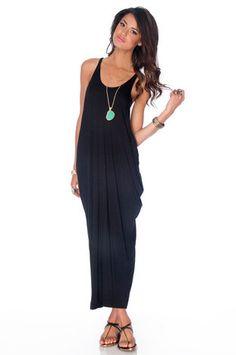 Vacation Maxi Dress in Black.  I really need this.