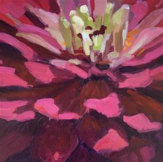"Daily Paintworks - ""The Fun Flower"" - Original Fine Art for Sale - © Kaethe Bealer"