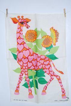 * The Giraffe * by renowned Belinda Lyon     Psychadelic  Art of 1970's
