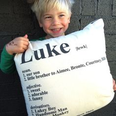 Kids Dictionary Pillow by Hampsons Homewares