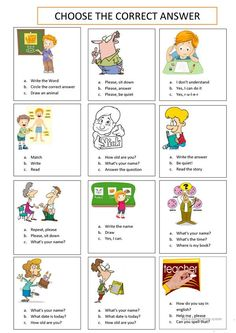 TEST - English ESL Worksheets for distance learning and physical classrooms English Activities For Kids, English Grammar For Kids, Learning English For Kids, English Worksheets For Kids, English Lessons For Kids, Kids English, English Vocabulary, Teaching English, Learn English