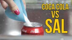 Qué ocurre si mezclas Coca Cola con sal (Experimentos Caseros para niños)