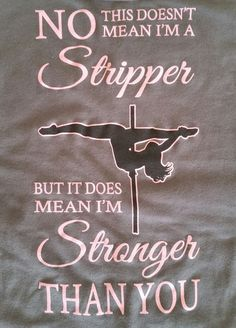 I'm Stronger Than You tank top for pole dance fitness ... available Sep. 15th at AerialFitBoutique.com. Get your 15% discount code by visiting the site now!