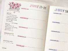 weekly spread bullet journal