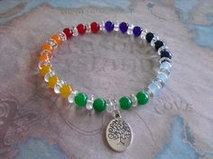 Buy Tree of life (chakra) bracelet by shynnasplace. Explore more products on http://shynnasplace.etsy.com