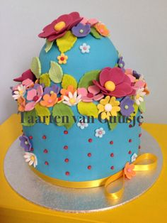 Taartenvanguusje.nl flowercake cake with flowers colours color