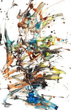 Modern Abstract Paintings -- Crazy Chaos Times 2